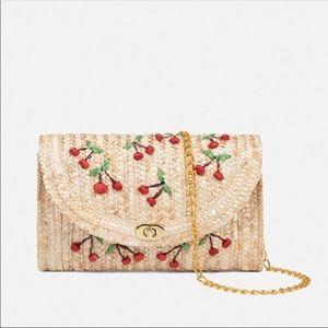 $39 COMING SOON!! Cherry Straw Clutch Bag